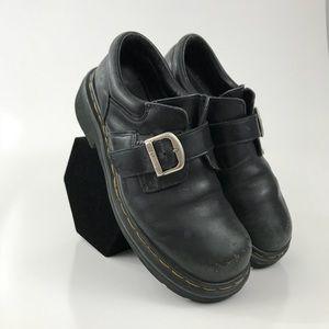 Dr Martens Docs Black Leather Monk Strap Shoe Sz 7